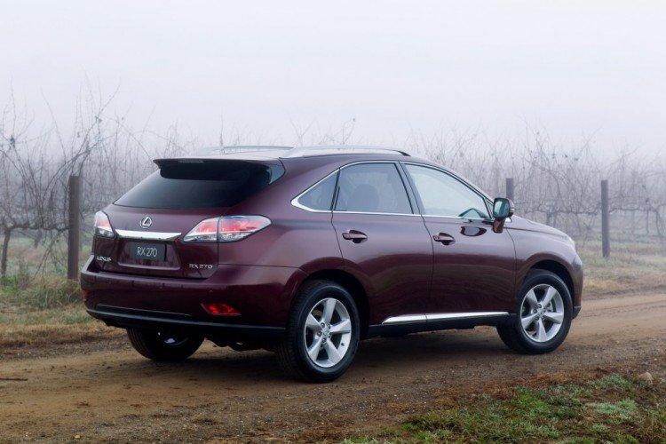 Технические характеристики автомобиля Lexus RX 270