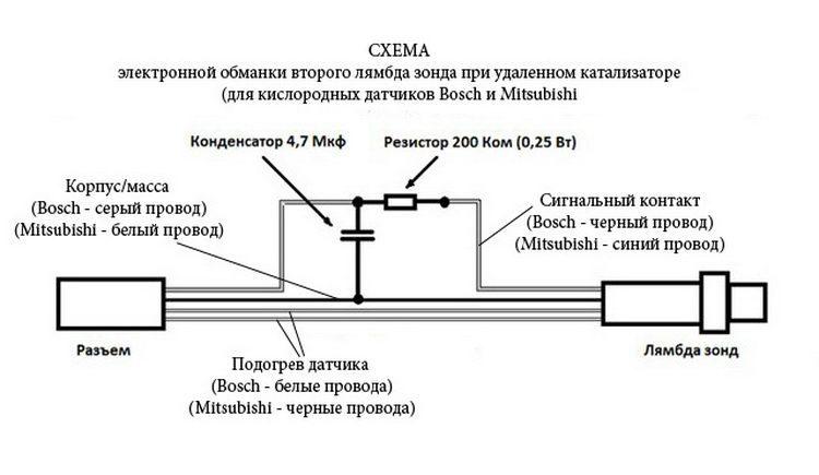 Схема электронной обманки