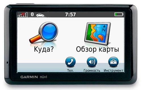 Интерфейс навигационной программы Garmin