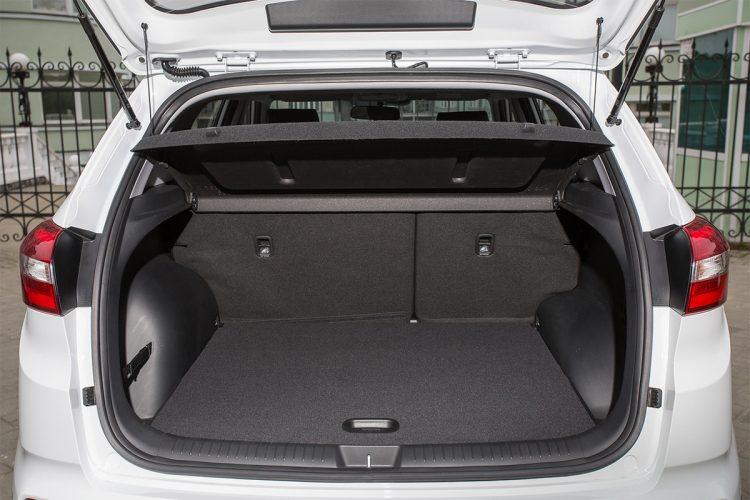 На фото багажный отсек Hyundai Creta 2020-2021 года