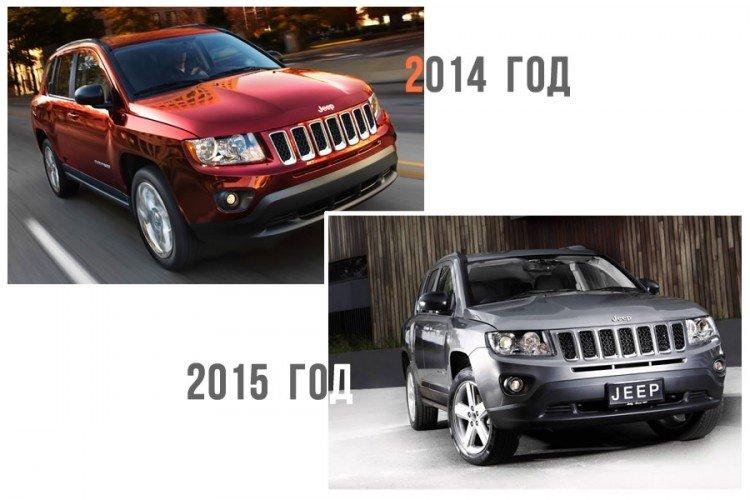 кроссовер Jeep Compass 2014 и 2016-2017 на фото