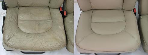 Ремонт кожаного салона (до и после)