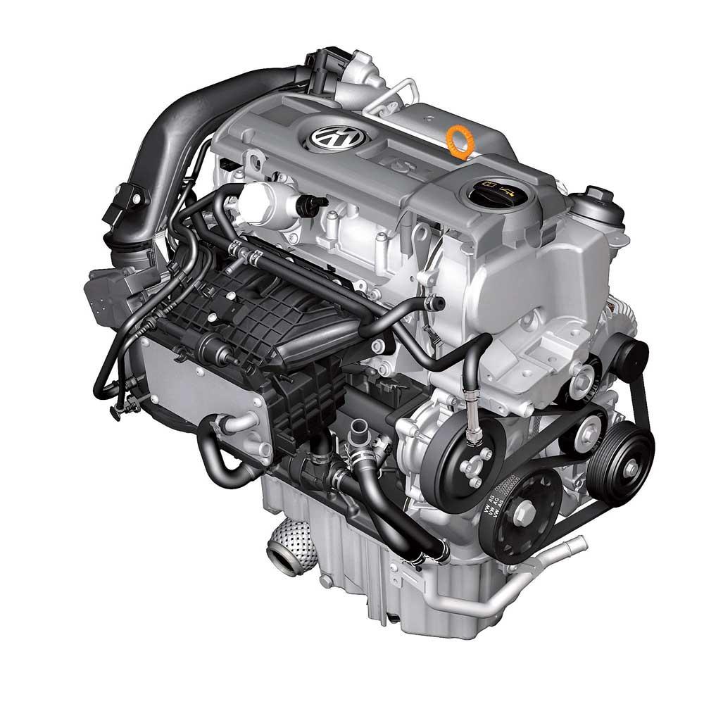 Автомобильный бензиновый двигатель