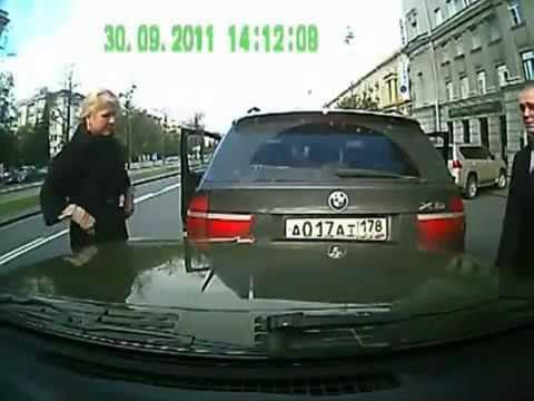 Автоподстава снятая на видеорегистратор