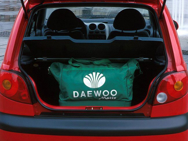 Багажник Daewoo Matiz не очень вместительный