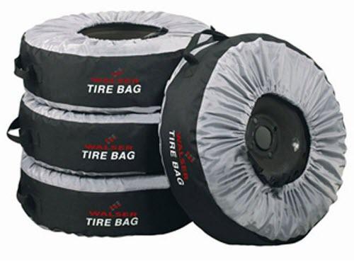 Используйте специальные чехлы для хранения шин