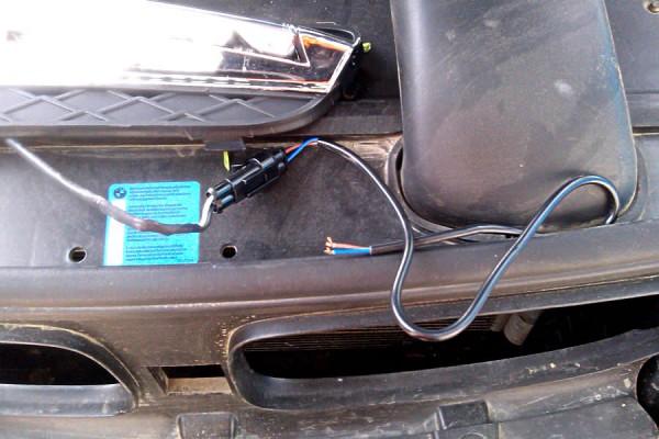 Подключение проводки на ходовые огни
