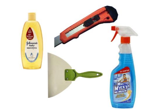 Для снятия тонировки вам понадобятся эти инструменты и принадлежности