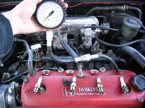 Самостоятельное измерение компрессии двигателя