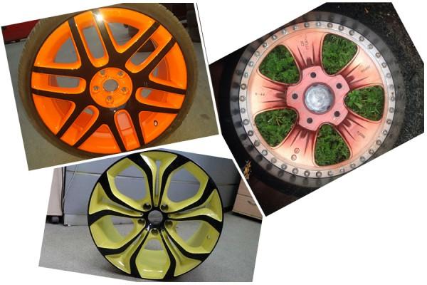 Крашеные литые диски фото