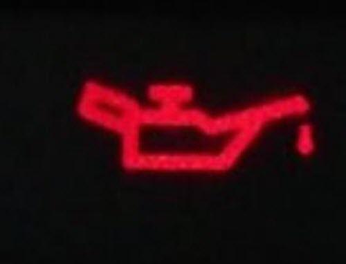 Контрольная лампа низкого давления масла в двигателе