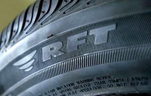 Маркировка шин с технологией runflat отличается у разных производителей