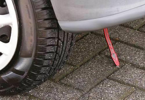 Заземление автомобиля специальной полоской