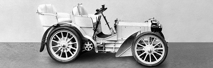 """Первый автомобиль серии """"Mercedes"""", модель 1901 года"""