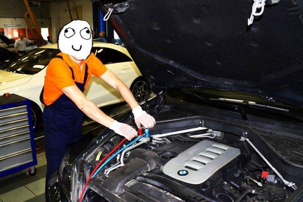 Обслуживание кондиционера автомобиля