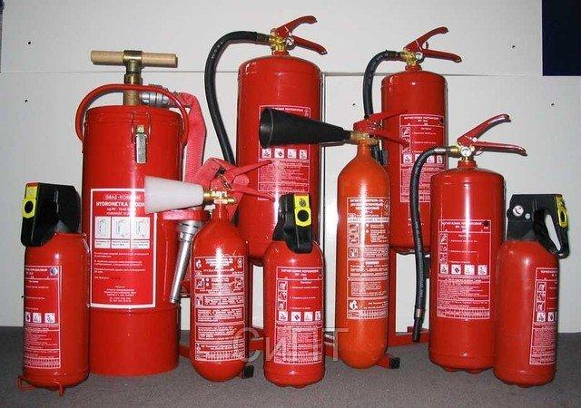 Производители предлагают различные типы огнетушителей