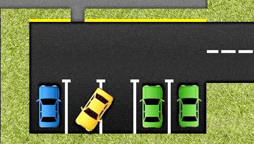 Парковка передним ходом возможна только при наличии достаточного свободного пространства