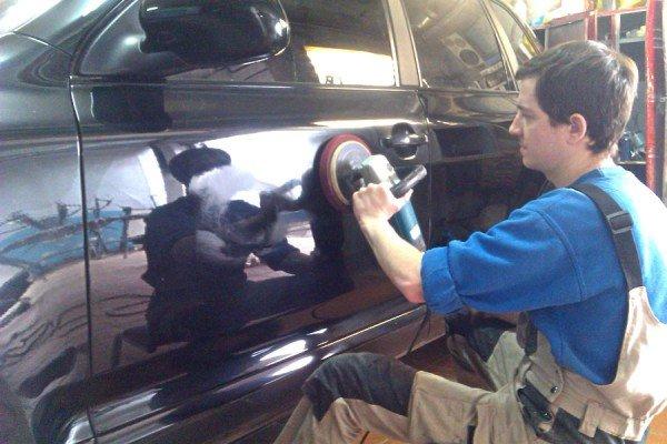 Подготовка к покраске авто фото