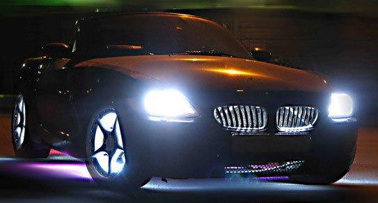 Подсветка решетки радиатора придает автомобилю неповторимый вид