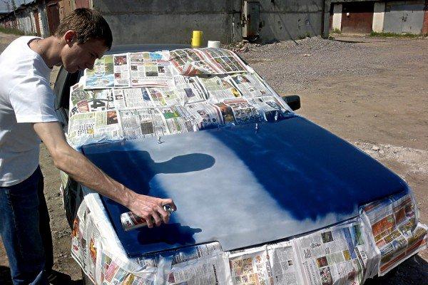 Покраска авто баллончиком фото