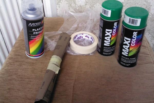 Покраска бампера из баллончика