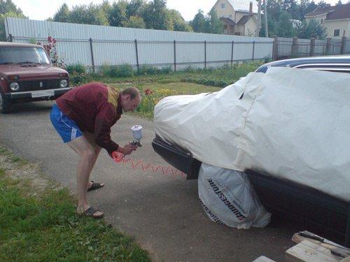 Если бампер автомобиля нуждается в покраске, то это можно сделать самому