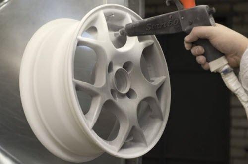 Полимерная покраска диска