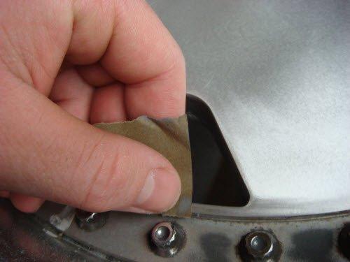 Полировка диска наждачной бумагой