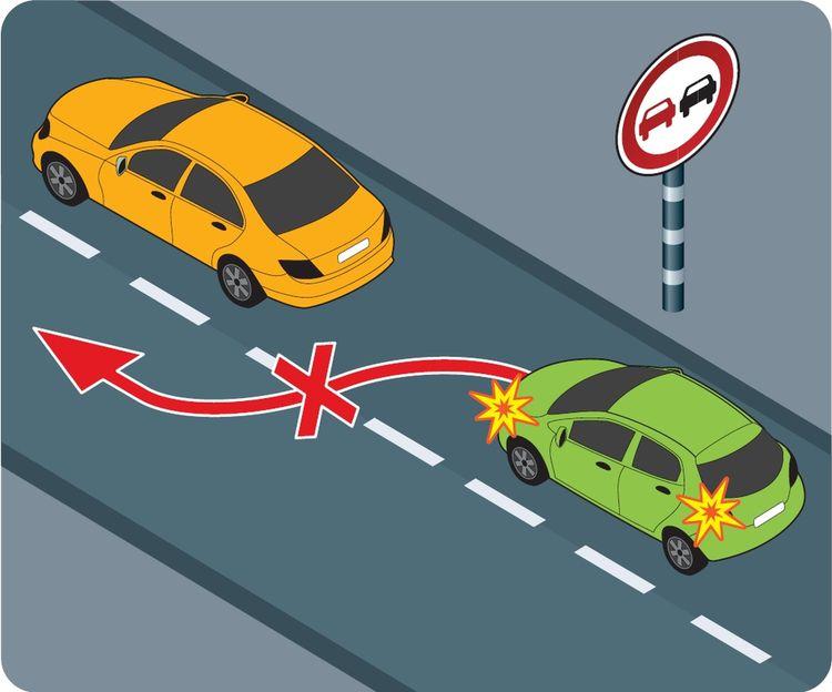 Дорожные знаки выше приоритетом, нежели дорожная разметка
