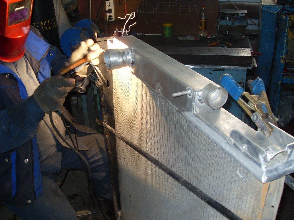 Ремонт радиатора, довольно сложный процесс