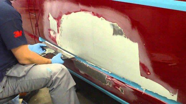 Шлифовка поверхности авто