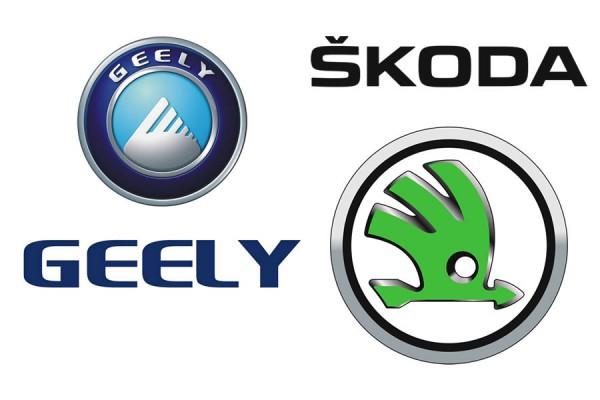 Логотип Geely и Skoda