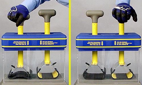 Наглядное сравнение характеристик упругости материала обычных и усиленных шин