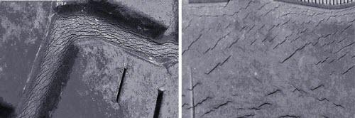 Со временем свойства полимера изменяются, и шина приходит в негодность