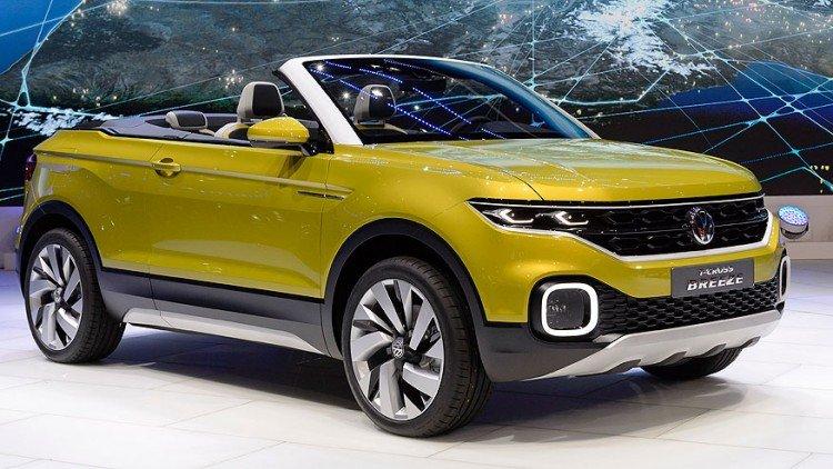 Внешний вид Volkswagen T-Cross Breeze 2017 модельного года