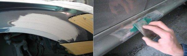 Шпатлевка кузова автомобиля
