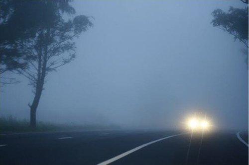Туман в дороге резко снижает видимость