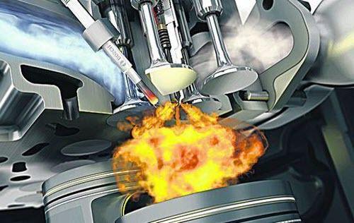 Примерно так выглядит возгорание в дизельном двигателе