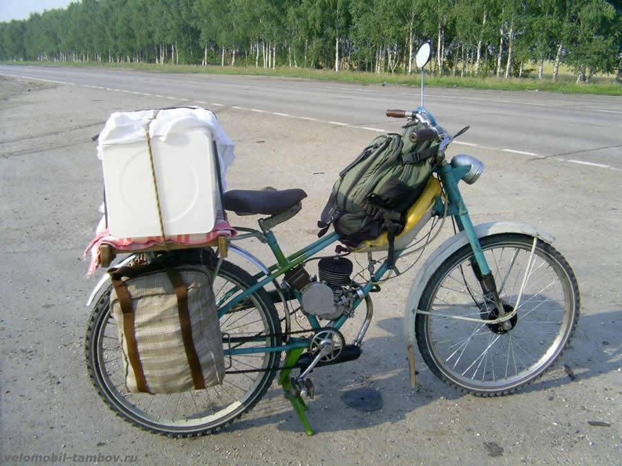 Сделать мопед из велосипеда в домашних условиях 670