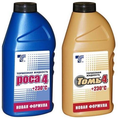 Разные тормозные жидкости имеют разные свойства