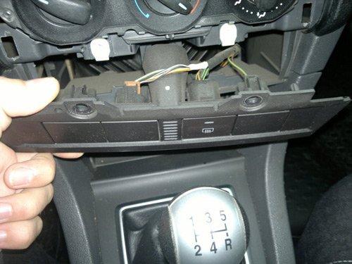 Вывод кнопки управления на переднюю панель