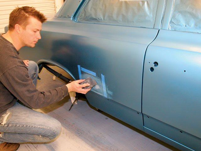Зачистка кузова автомобиля