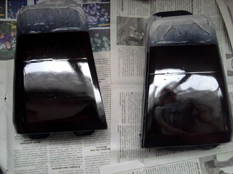 Тонировка фар краской своими руками 22