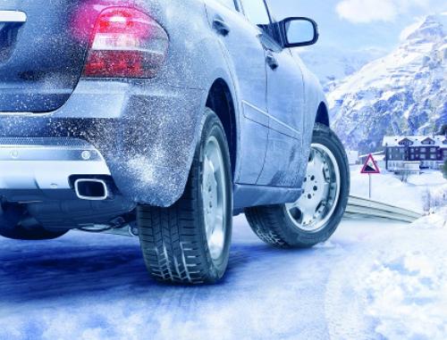 Зимняя резина на передних и задних колёсах
