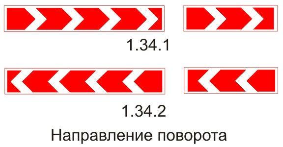 Знаки направления поворота